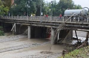 Alluvione, Ponte dei Carrettieri su torrente Baganza