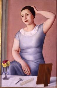 Antonio Donghi, Donna alla toletta, 1930. Galleria d'Arte Moderna © Roma Capitale