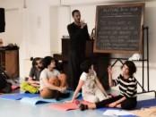 Lezione yoga al Capas