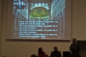 Giuliano Volpe durante la conferenza
