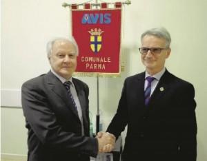 Il passaggio di testimone alla guida dell'Avis di Parma