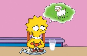 Lisa simpson vegetariana