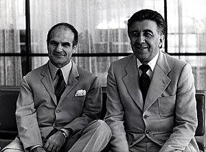 Sandro Ciotti ed Enrico Ameri