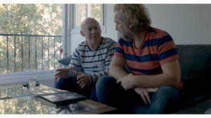 Il regista Stefano Cattini in un'intervista durante le riprese
