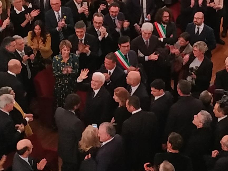 Parma 2020 Teatro Regio Saluto Presidente Mattarella
